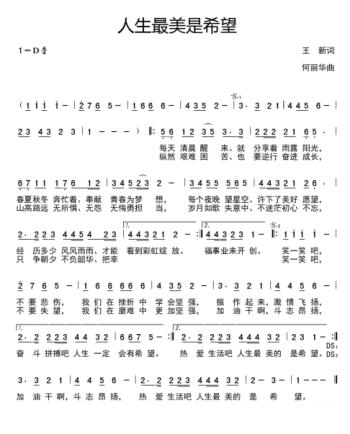 词作家王新、著名作曲家何丽华、歌手江虹娇联袂打造歌曲《人生最美是希望》隆重上线